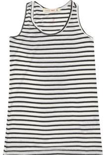 Camiseta Reserva Mini Menina Listrado Preto