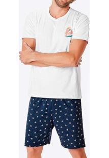 Pijama Masculino Curto Malwee 1000083418 00001-Bra