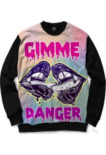 Blusa Bsc Gimme Danger Full Print - Masculino-Preto