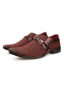 Sapato Social Tricê Neway Masculino Vermelho