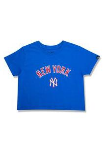 T-Shirt New Era Cropped New York Yankees Azul