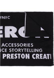 Heron Preston Cachecol De Tricô Com Padronagem - Preto