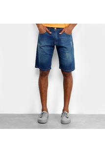Bermuda Jeans Hd Ly-5207A Masculina - Masculino-Azul