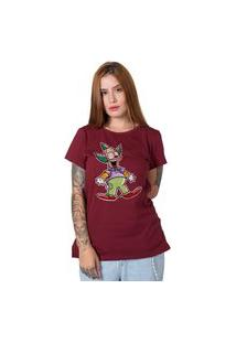Camiseta Krusty Bordô
