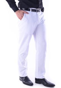Calça Sarja Chino Regular Amaciada Branco Traymon 3035