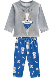 Pijama Camiseta E Calça Mescla