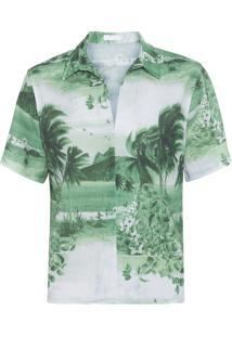 Camisa Feminina V Básica Rj - Verde