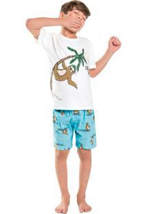 Pijama Infantil Sloth Branco