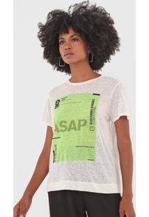 Camiseta Osklen Sustainable Off-White/Verde