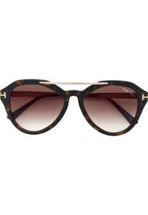 5411fe7f7e2f6 Tom Ford Eyewear Óculos De Sol  Ft0576S  - Marrom