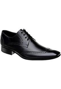 Sapato Oxford Bigioni Couro Masculino - Masculino-Preto