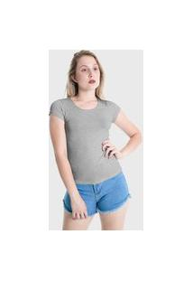 Camiseta T-Shirt Básica Plus Size Lynnce Cinza
