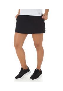 Short Saia Com Proteção Solar Uv Adidas Club - Feminino - Preto