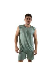 Pijama Linha Noite Curto Verde