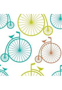 Papel De Parede Adesivo Bikes Coloridas (0,58M X 2,50M)