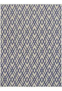Tapete Art Design Losango- Bege & Azul Escuro- 200X1Tapete São Carlos
