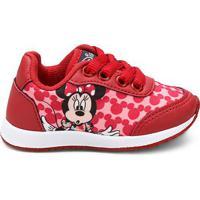 17d3ecf5f47 Tênis Infantil Disney Minnie Feminino - Feminino-Vermelho