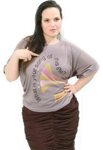 Camiseta Vickttoria Vick Vitróla Vintage Plus Size