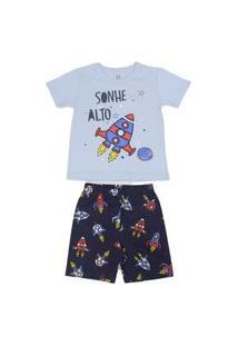 Pijama Curto Foguete Brandili