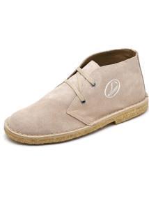 Bota Top Franca Shoes Casual Bege