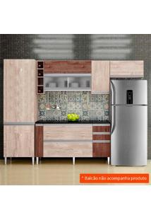 Cozinha Compacta Ebano 6 Pt Champanhe E Chocolate