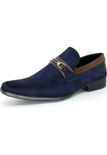 Sapato Social Bali Man Camurça Azul