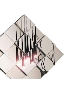 Painel Espelhado Decorativo 78Cmx78Cm Liverpool Siena Móveis Preto