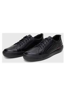 Sapato Em Couro Hayabusa Z 10 - Tan Solado Preto