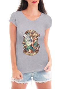 Camiseta Criativa Urbana Fada Fadinha - Feminino-Cinza
