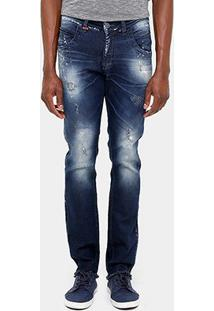 Calça Jeans Skinny Zune Desfiada Respingos Masculina - Masculino