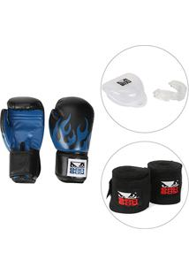 16d132bff Kit Luva De Boxe   Muay Thai Bad Boy 16 Oz + Bandagem Elástica Bad Boy