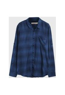 Camisa Calvin Klein Kids Menino Azul