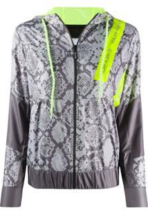 Philipp Plein Hooded Python Print Jacket - Cinza