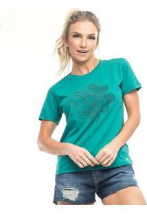"Camiseta ""Trevo""- Verde & Preta- Vestemvestem"