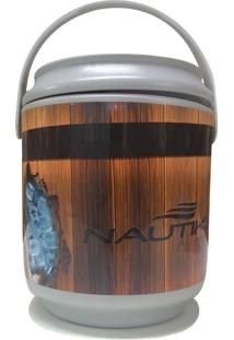 Cooler Barril Com Capacidade Para 5 Latas - Nautika 561002