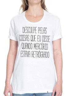 Desculpe Pelas Coisas - Camiseta Basicona Unissex