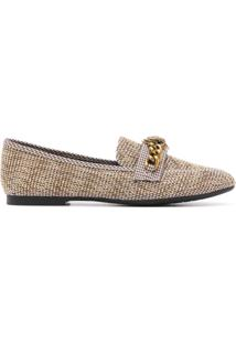Kurt Geiger London Mocassim Chelsea De Tweed - Neutro