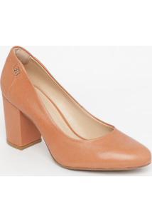 Sapato Em Couro- Rosê- Salto: 6,5Cmcapodarte