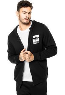 2d34aa4eaa Moletom Adidas Originals Street Grp Fz Capuz Preta