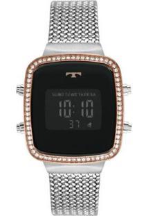 Relógio Technos Fashion Digital Feminino - Feminino-Prata