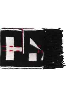 Off-White Cachecol Com Logo - Preto
