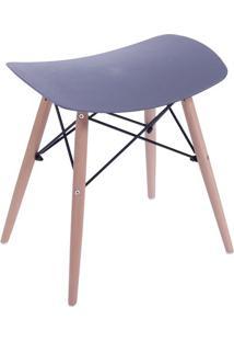 Banqueta Eames Dkr- Preta & Marrom- 46X47X53Cm- Or Design