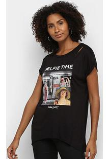 Camiseta Coca Cola Selfie Time Feminina - Feminino