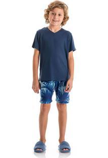 Pijama Tiago Slim Infantil Azul Scuba/08