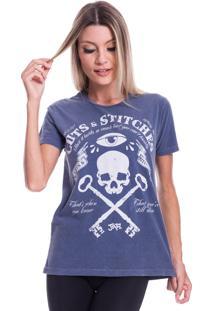 Camiseta Jazz Brasil Cuts & Stitches Azul