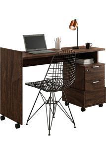 Mesa Para Computador Alessa 1 Noce