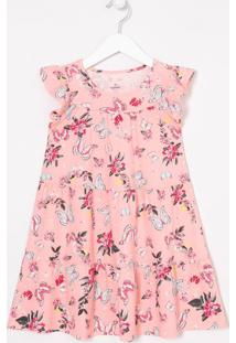 Vestido Infantil Floral - Tam 5 A 14 Anos