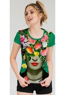 Camiseta Stompy Feminina Estampada 17 - Feminino-Verde