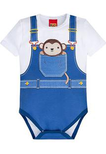 Body Infantil Kyly Cotton Macaquinho Bebê - Masculino