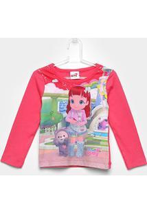 Blusa Infantil Brandili Rainbow Ruby - Feminino-Rosa Escuro